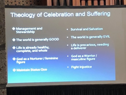 A Slide from Dr. Rah's presentation. One fo the failures of Western Christianity is its attempt to live only in celebration.